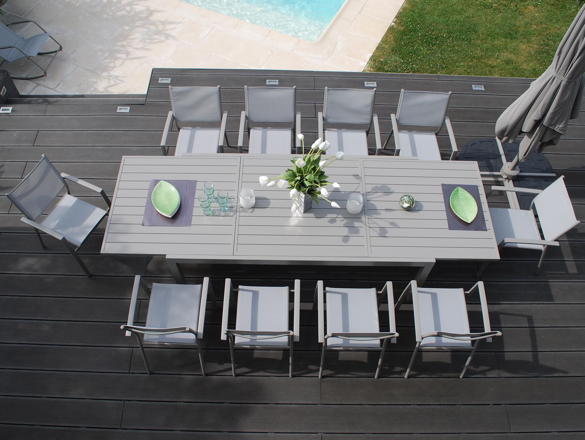 Table extensible Vital 240 taupe - Salon, mobilier de jardin ...