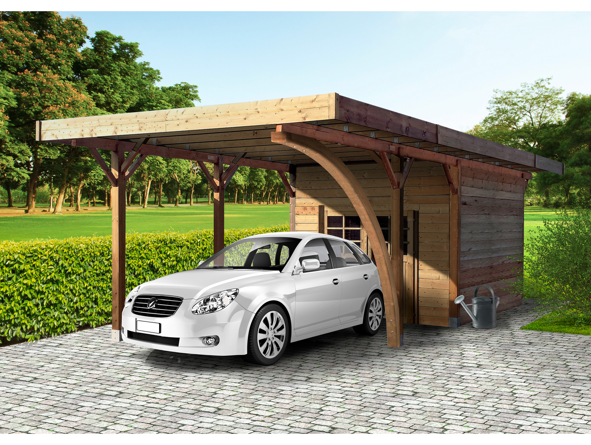 carport avec abri abris de jardin carports pergolas. Black Bedroom Furniture Sets. Home Design Ideas