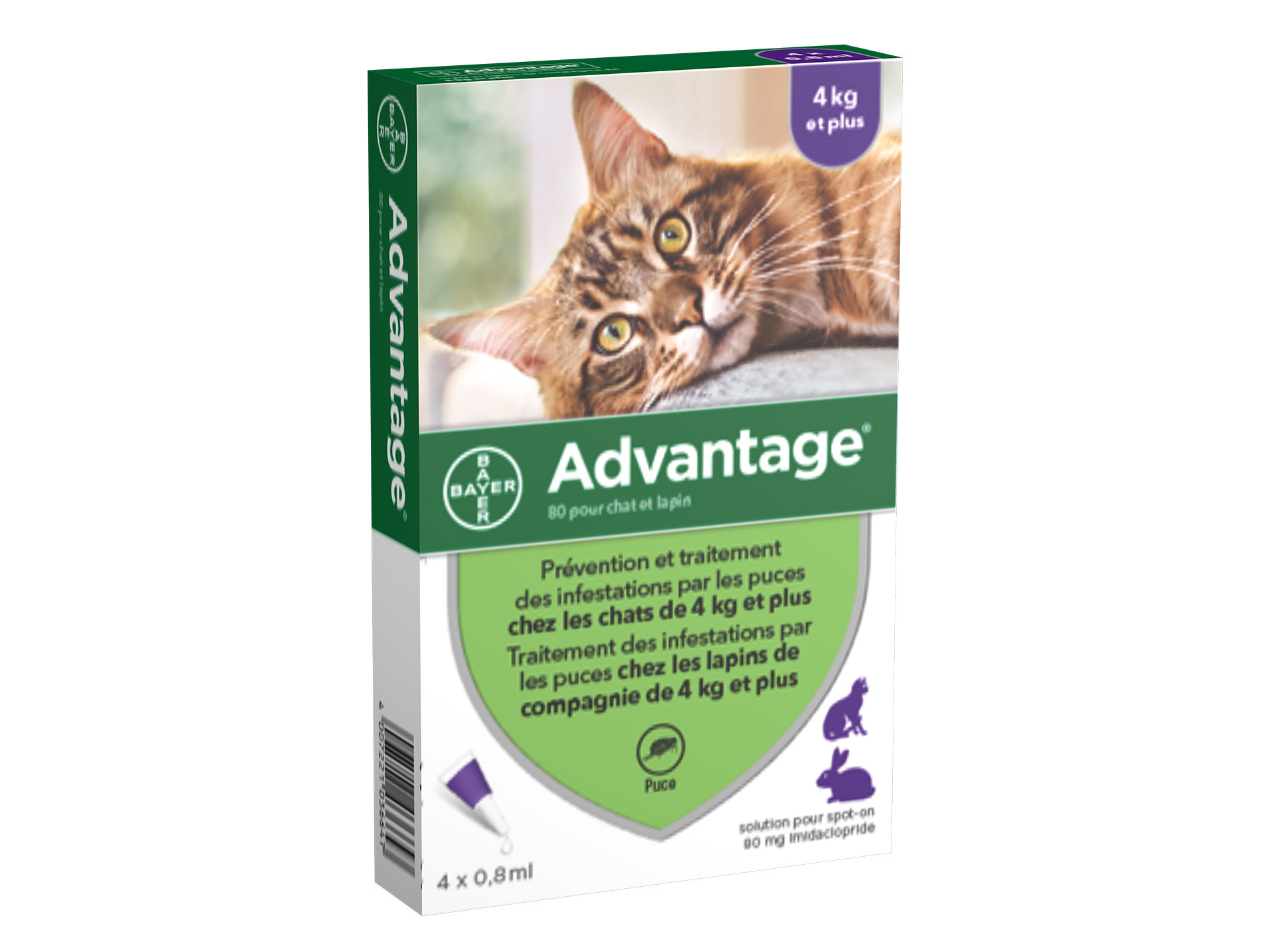 ADVANTAGE 80 anti-puces chat 4 à 10kg