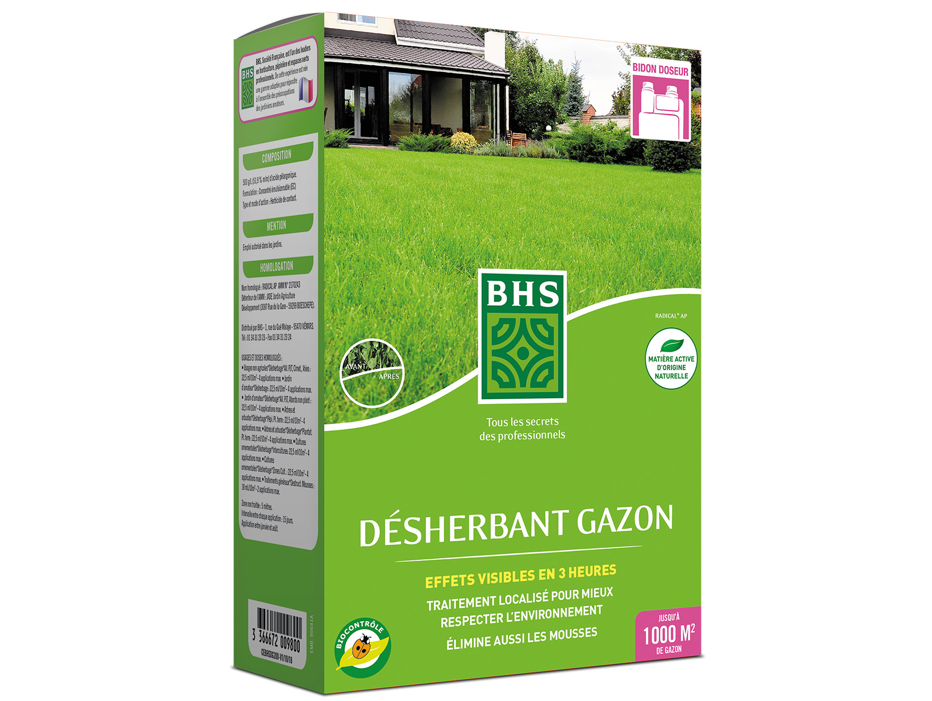 Désherbant gazon 400ml BHS
