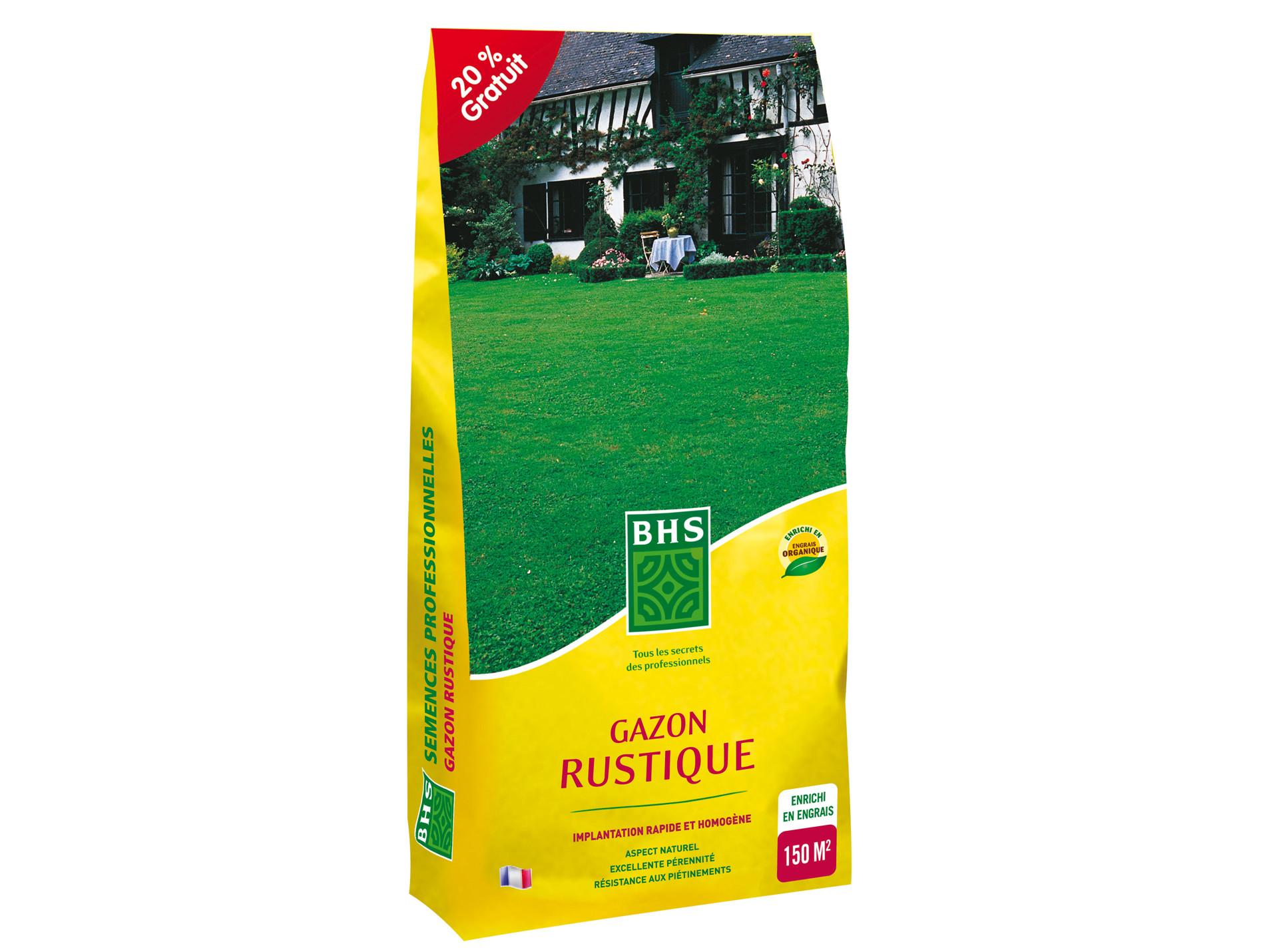 Gazon rustique BHS 4kg + 1kg gratuit