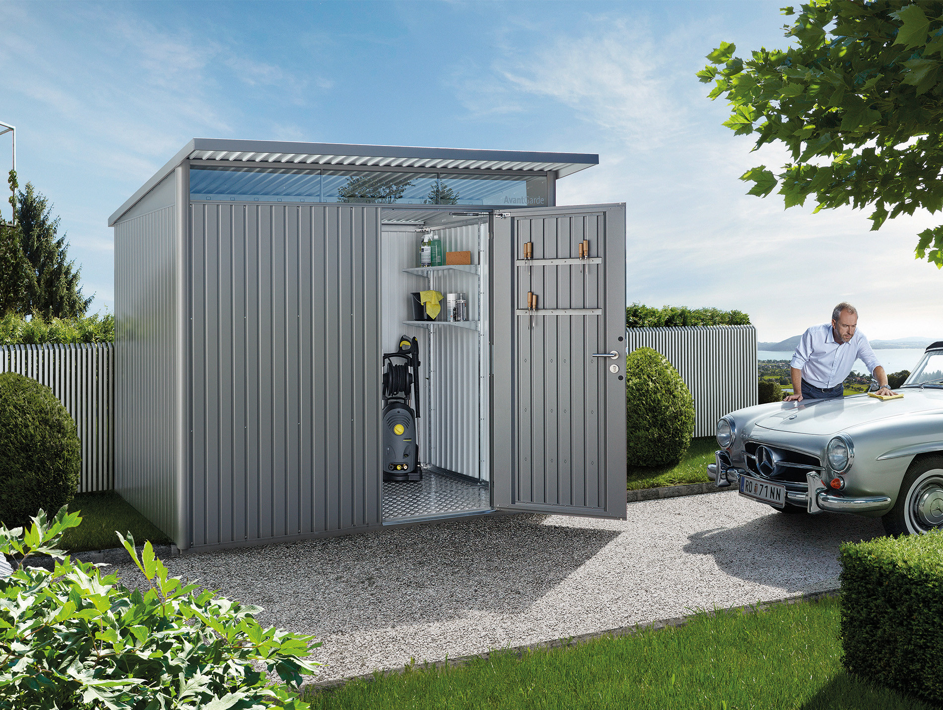 Abri de jardin métal AvantGarde® A5 5,72m² porte simple