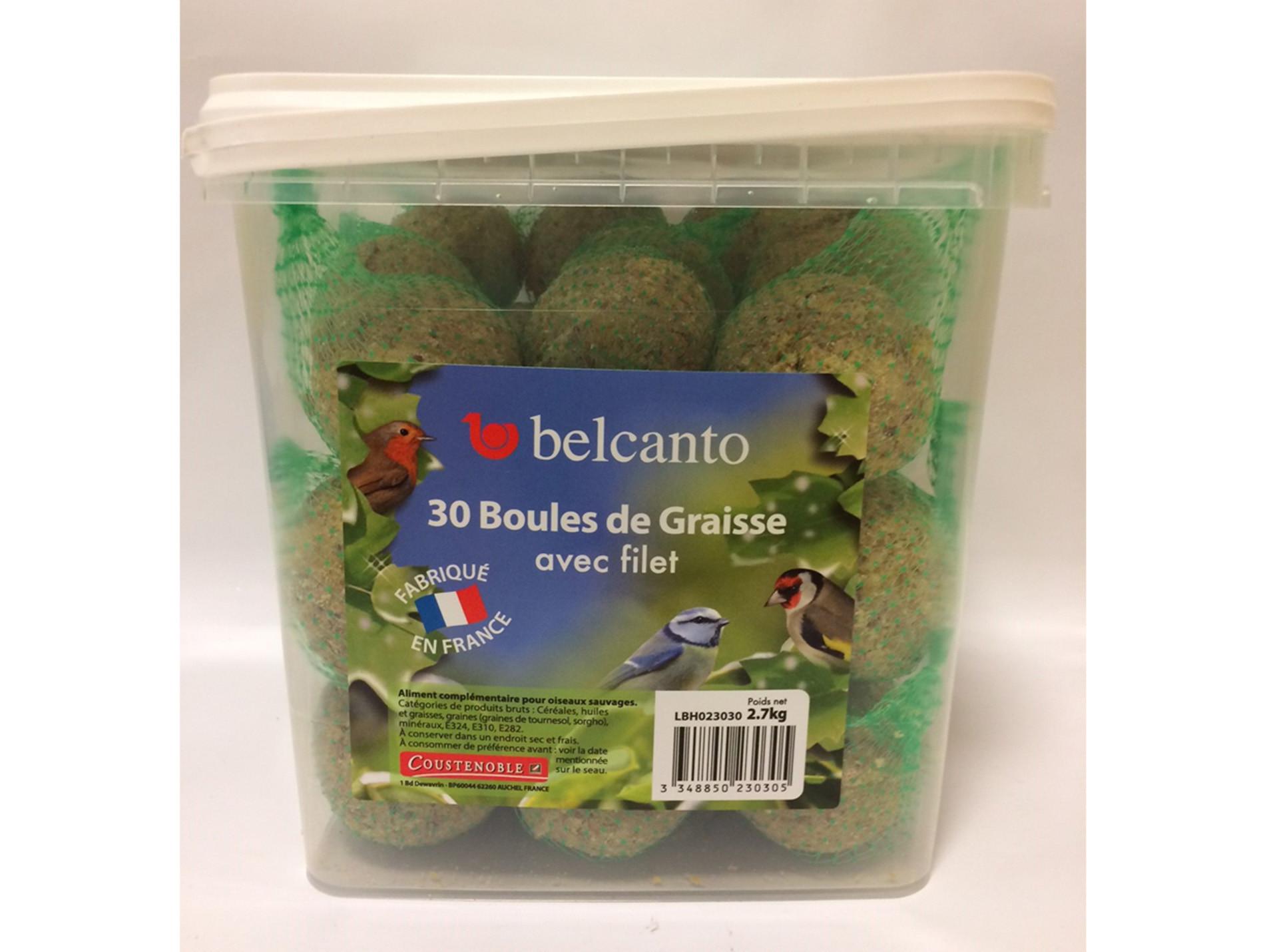 Boules de graisse avec filet Belcanto 30x90g