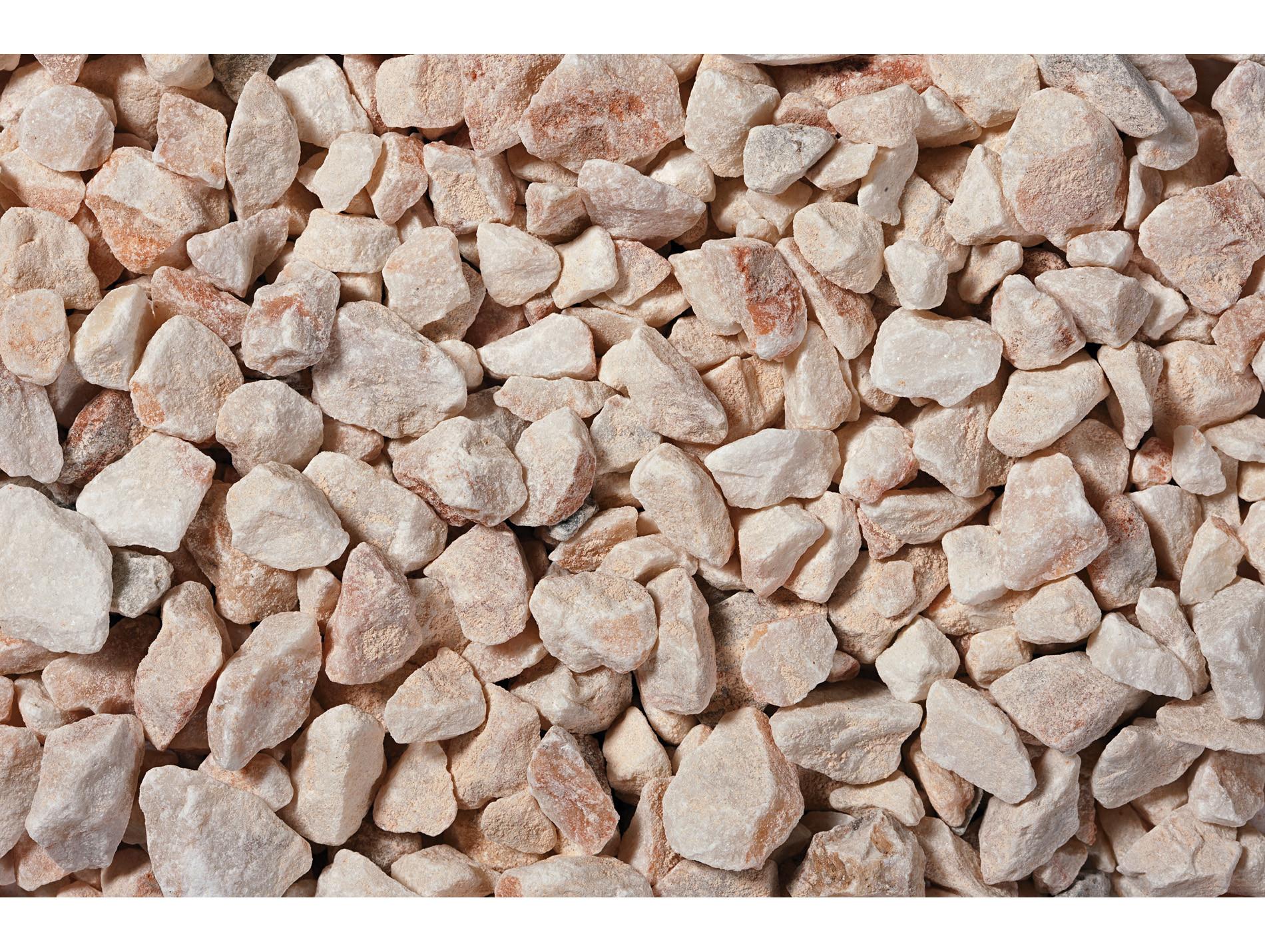 Amenagement Exterieur Galet Blanc gravillon marbre blanc rosé 8/16 25kg - gravier, galet