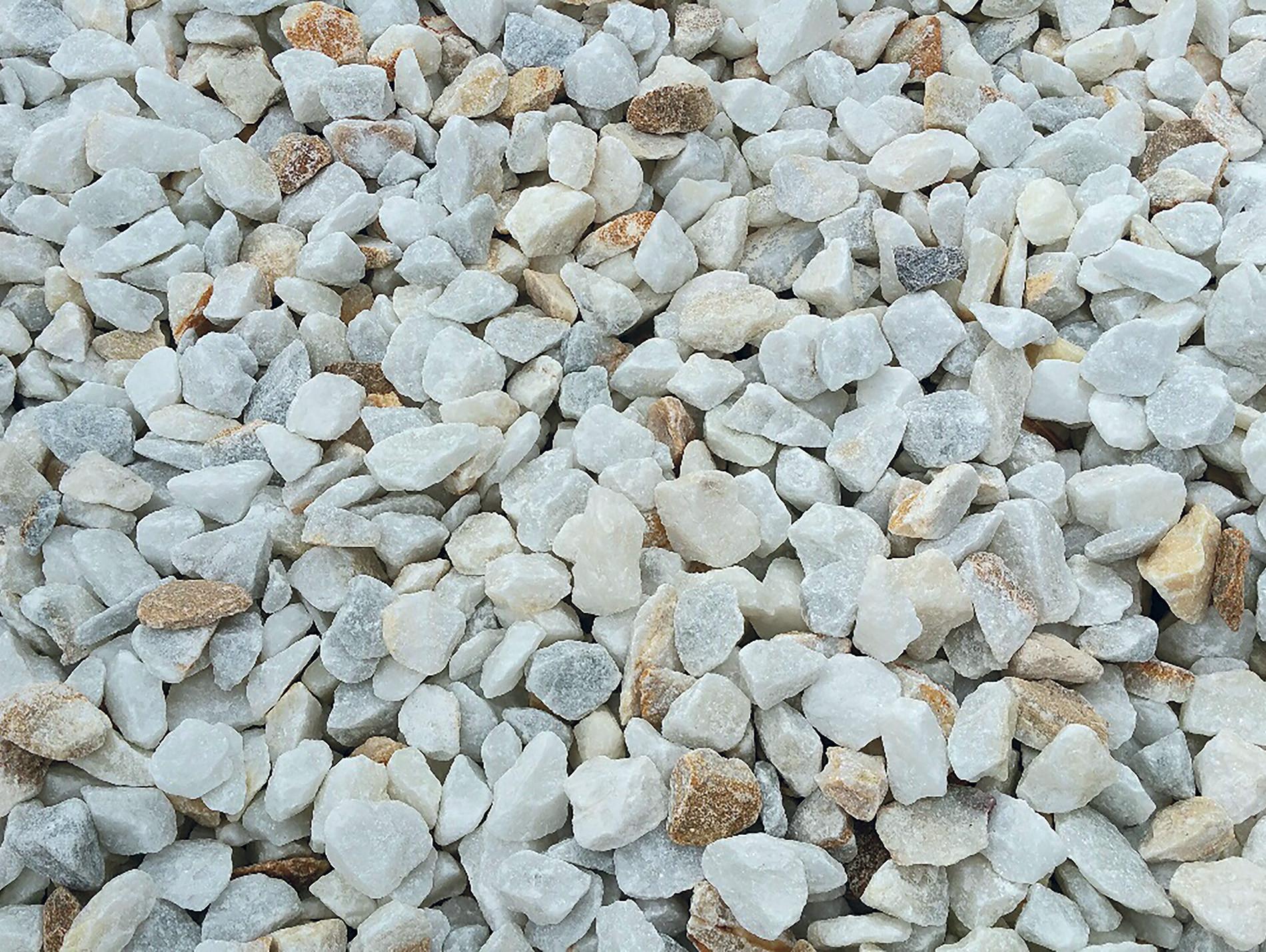 Gravillon concassé marbre blanc de Caraïbes 25kg
