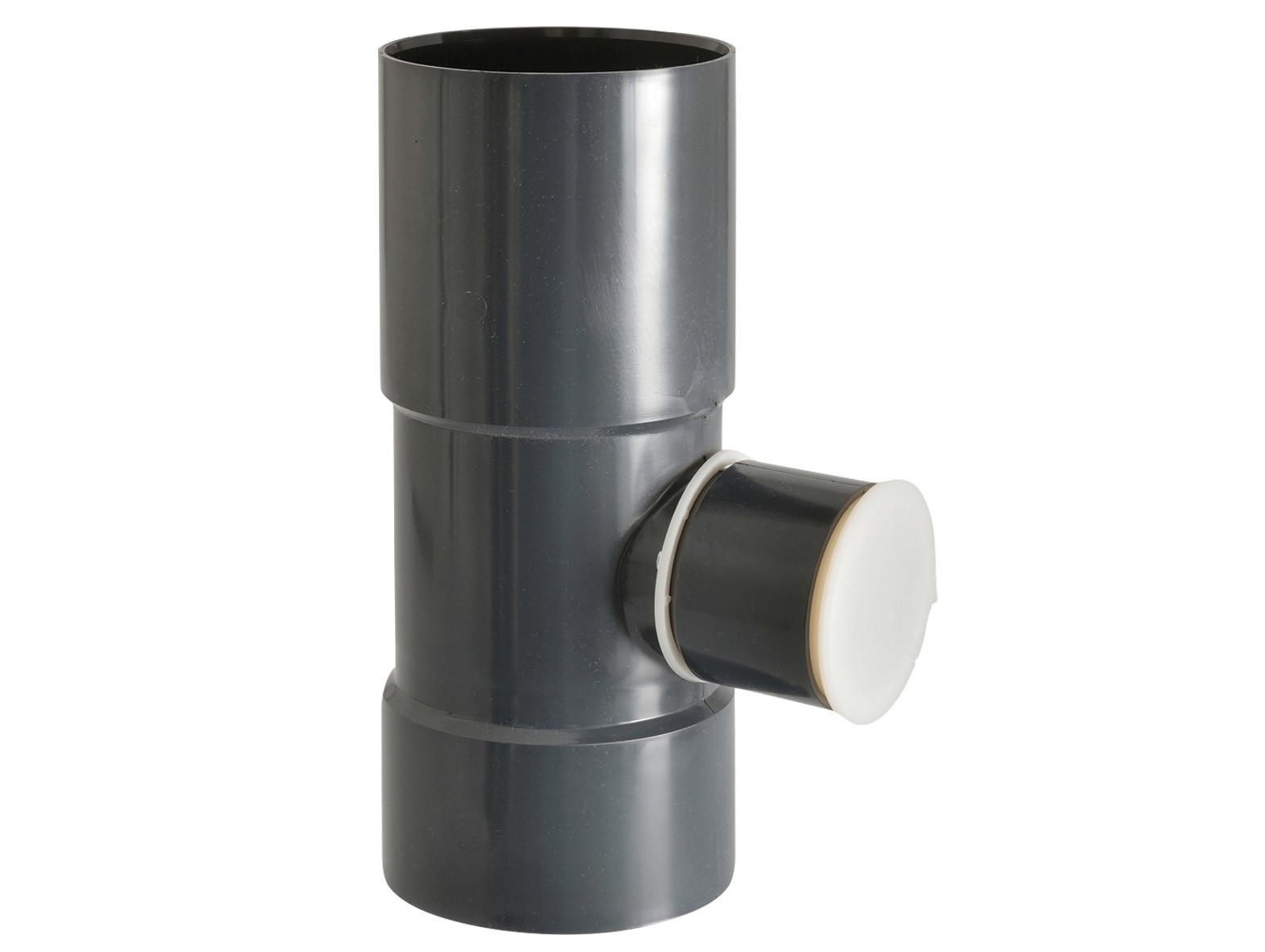 Collecteur d'eau D80/50 Ardoise