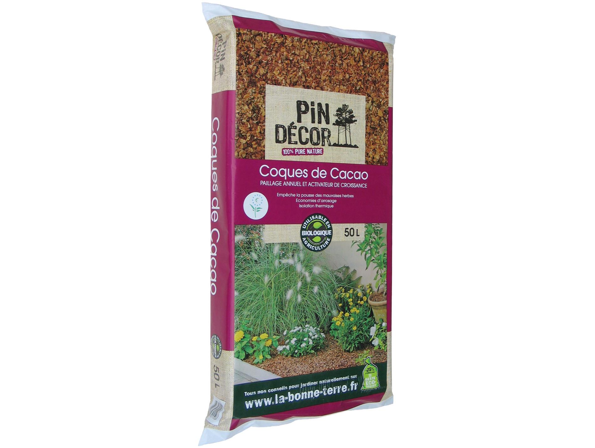 Coques de cacao PIN DECOR 50L