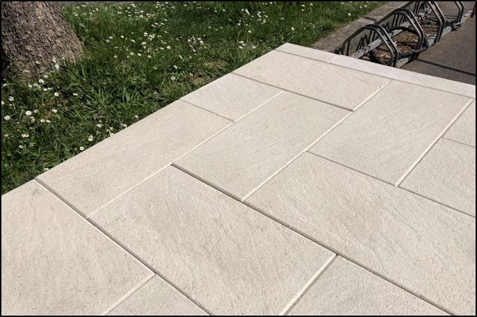 Dalle béton pressé Torino 60x30x4cm Ton pierre