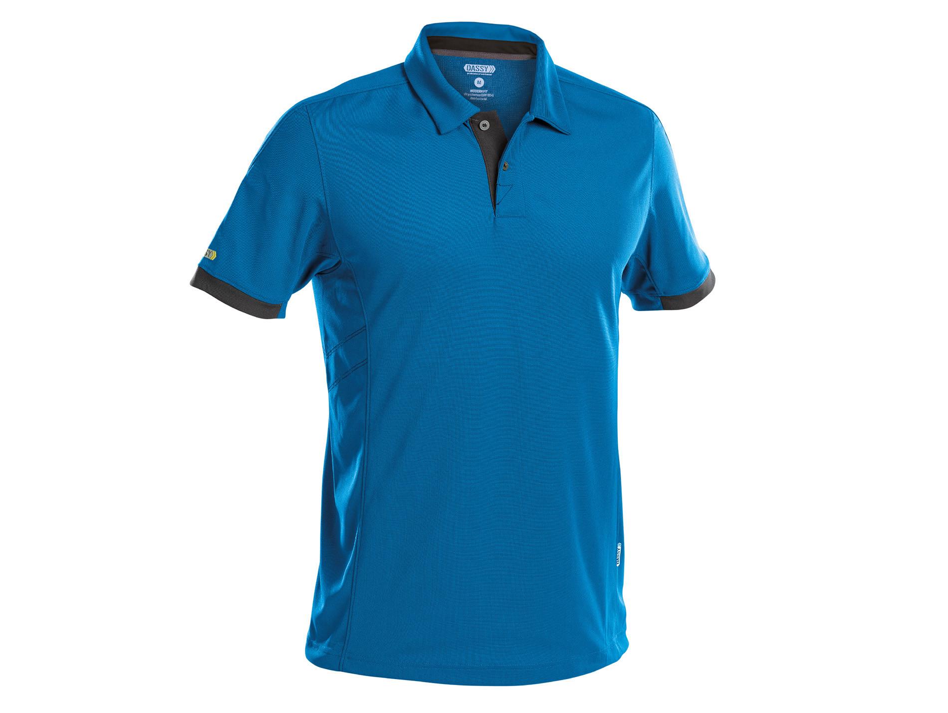 Polo DASSY® Traxion Bleu/gris