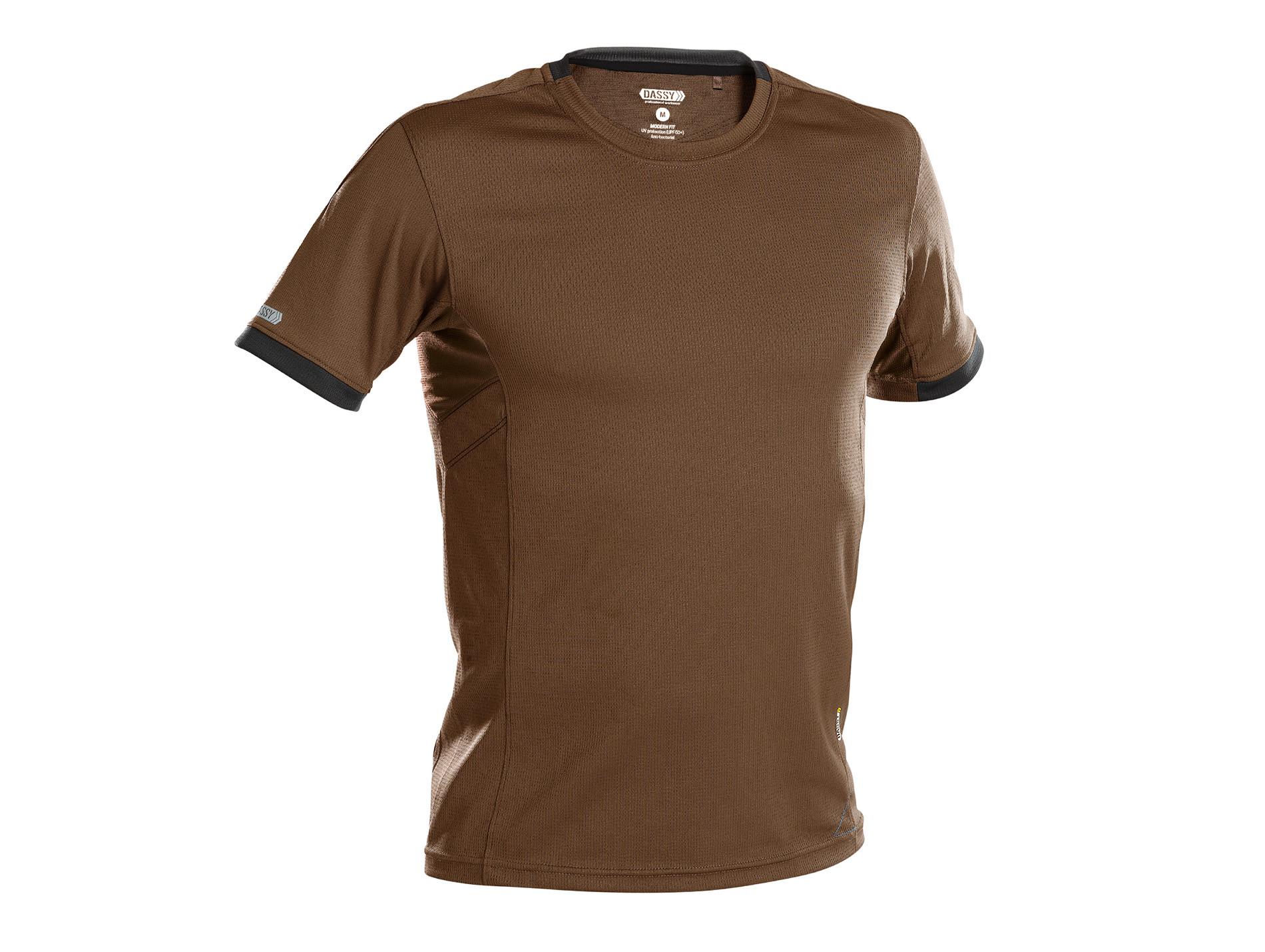 T-shirt DASSY® Nexus Camel/gris