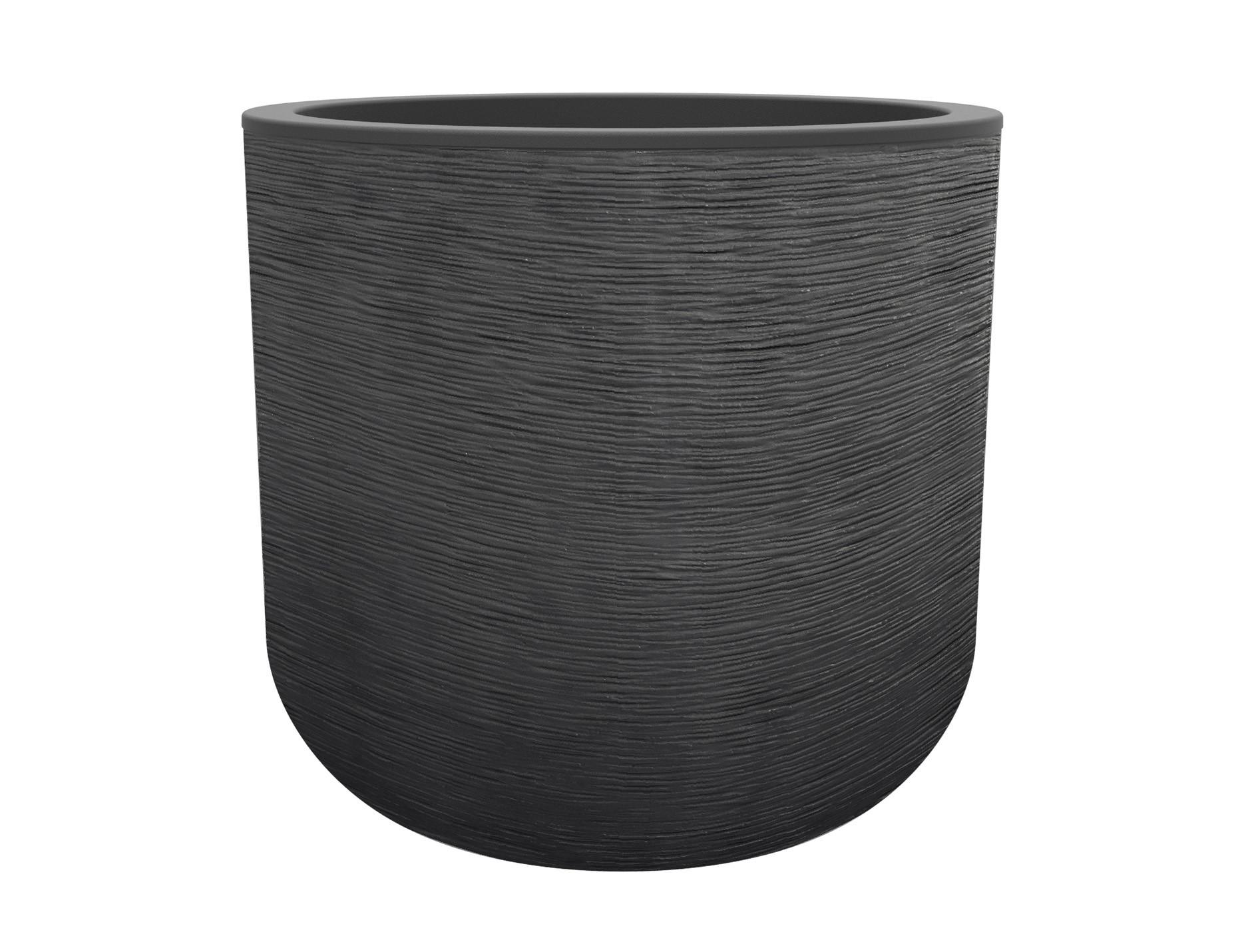 Pot rond 50cm Graphit'up anthracite