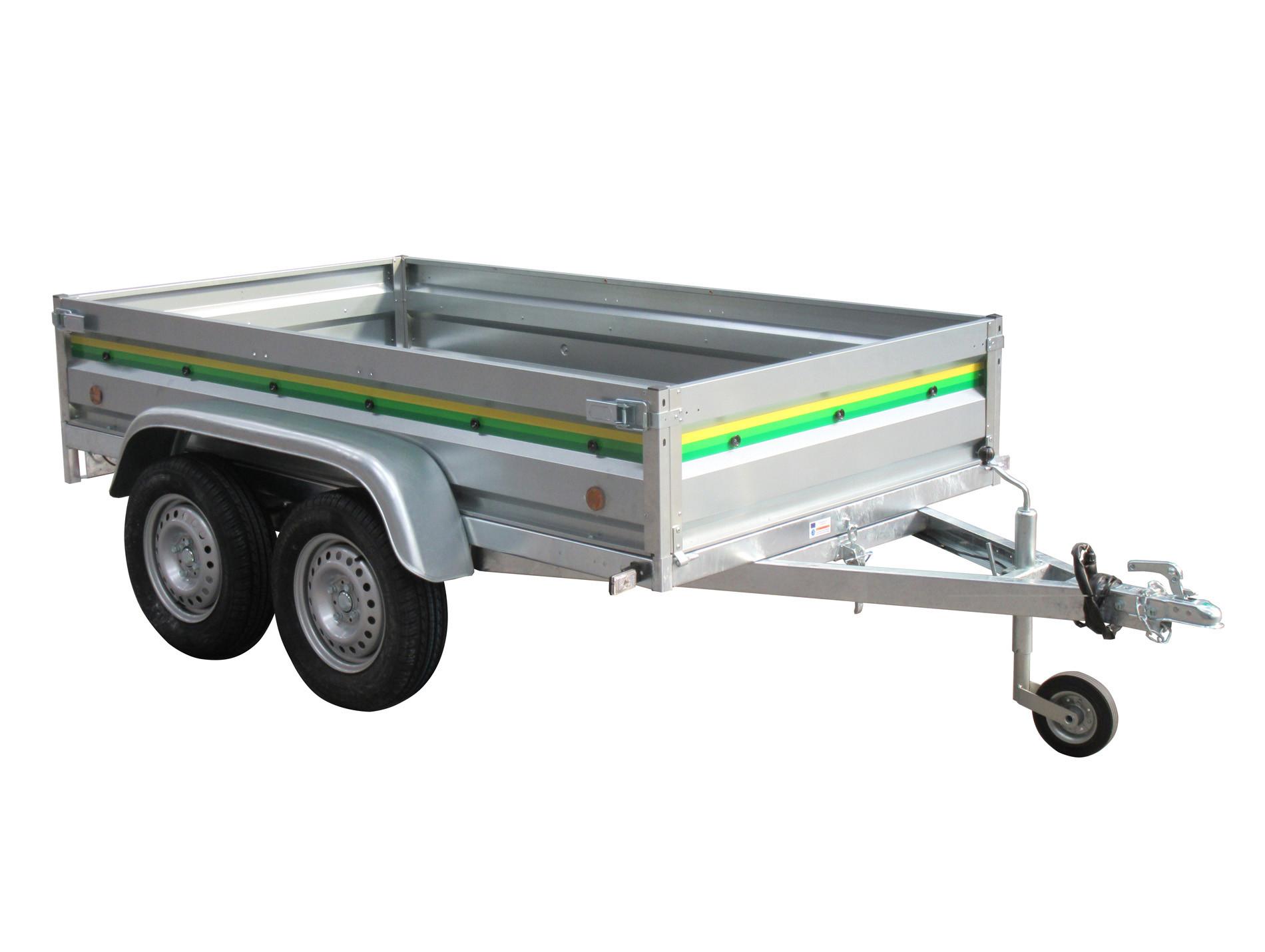 Remorque 2 essieux 2,40m 500kg ESPACE EMERAUDE RUBIS 24