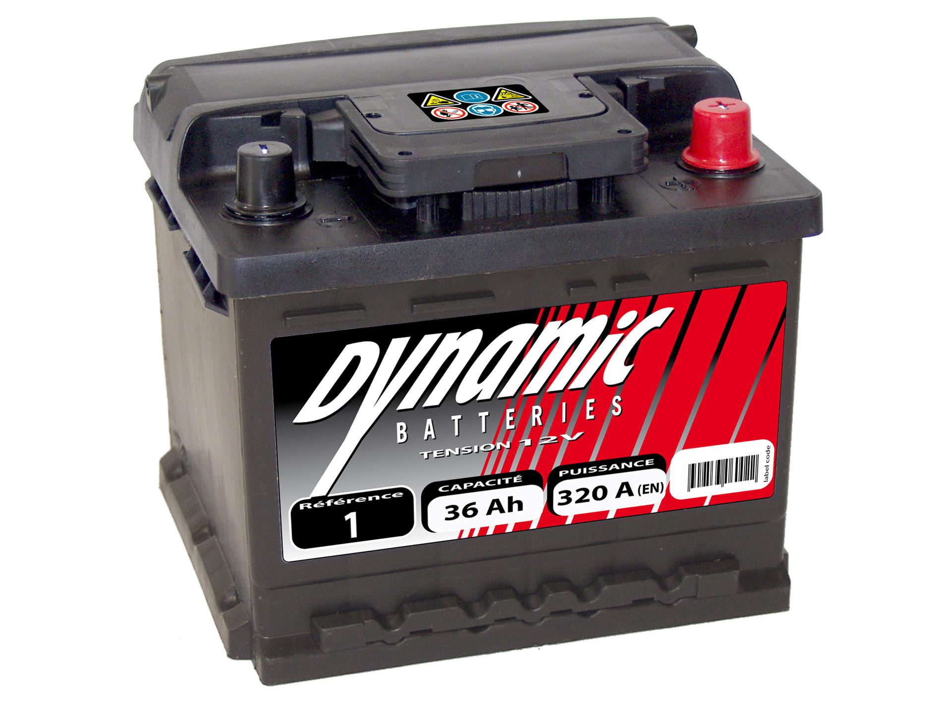 Batterie 12V N°5 Sélection Emeraude 41Ah 370A +D Batterie
