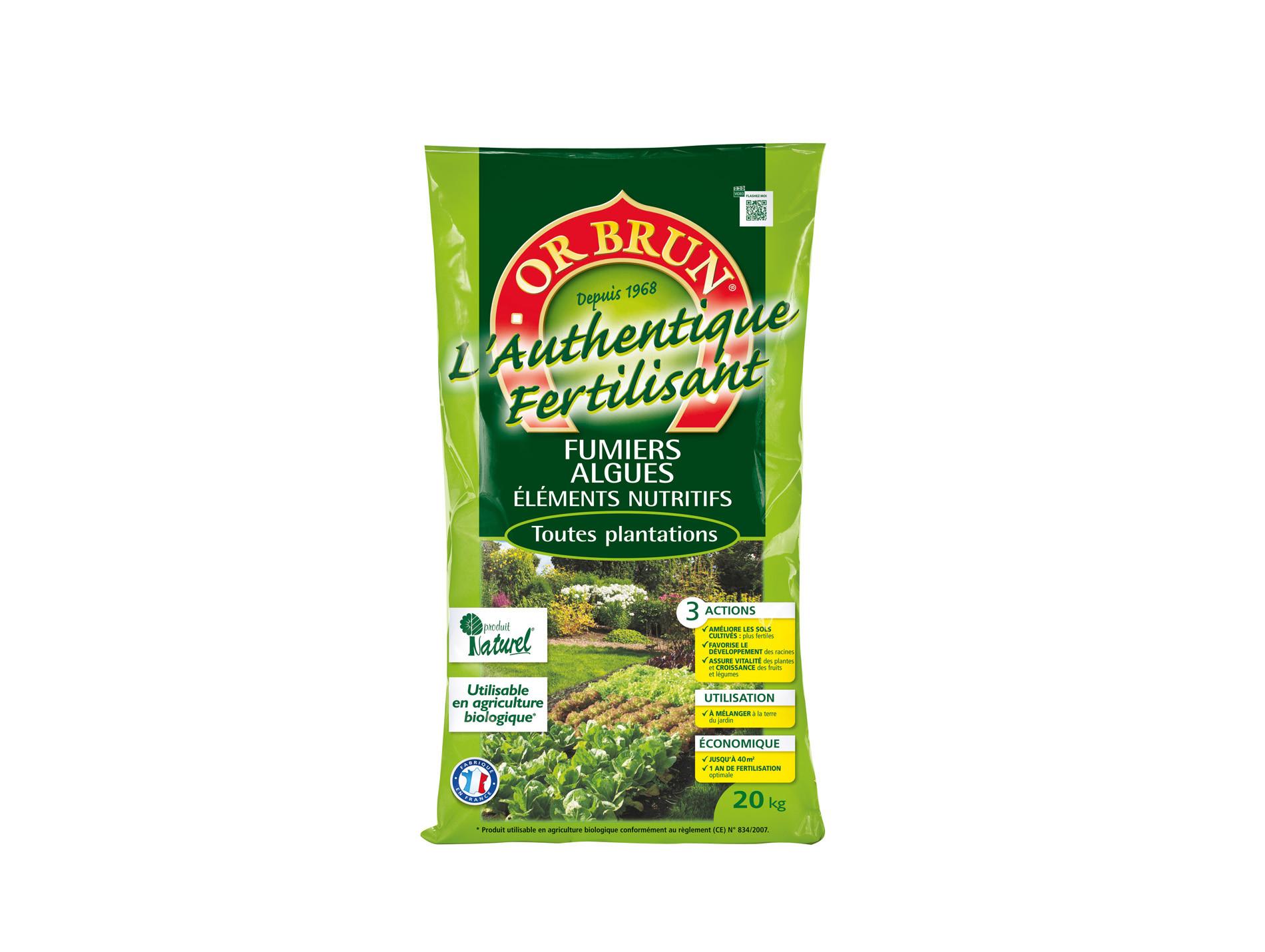 L'Authentique Fertilisant 20kg ORBRUN