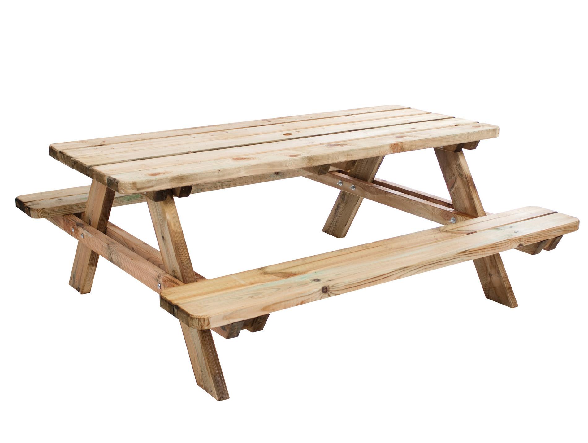 Table de pique nique en bois 4/6 places Matisse 1,80m