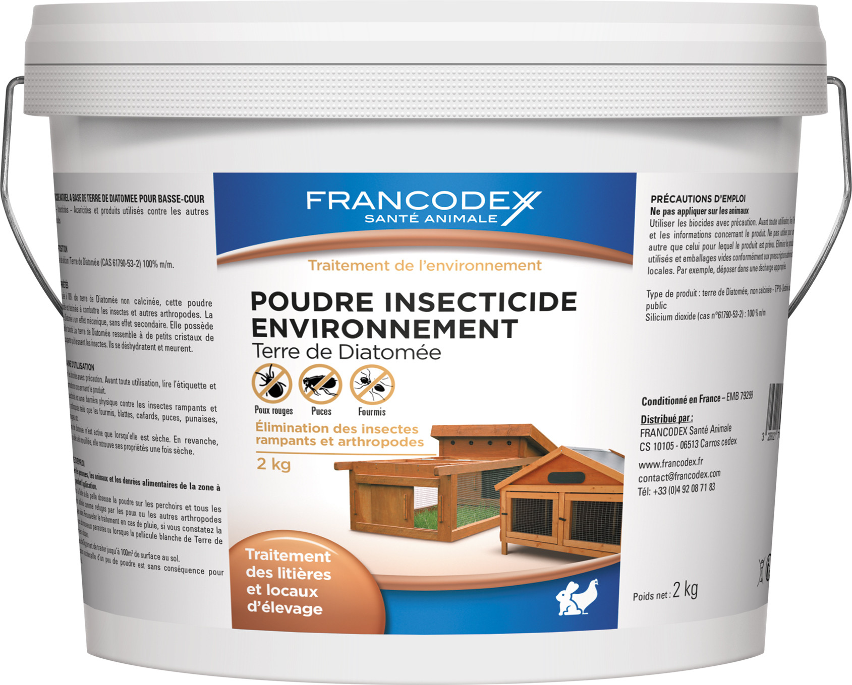 Poudre insecticide basse cour 2kg