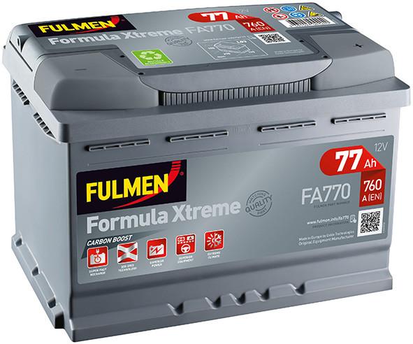 batterie fulmen xtreme fa770 12v 77ah 760a d batterie voiture batterie auto remorques. Black Bedroom Furniture Sets. Home Design Ideas