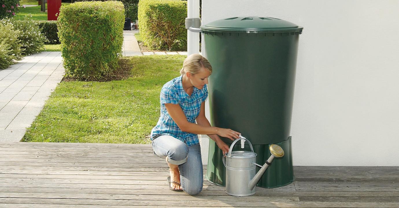 Cuve à eau 310L cylindre Vert