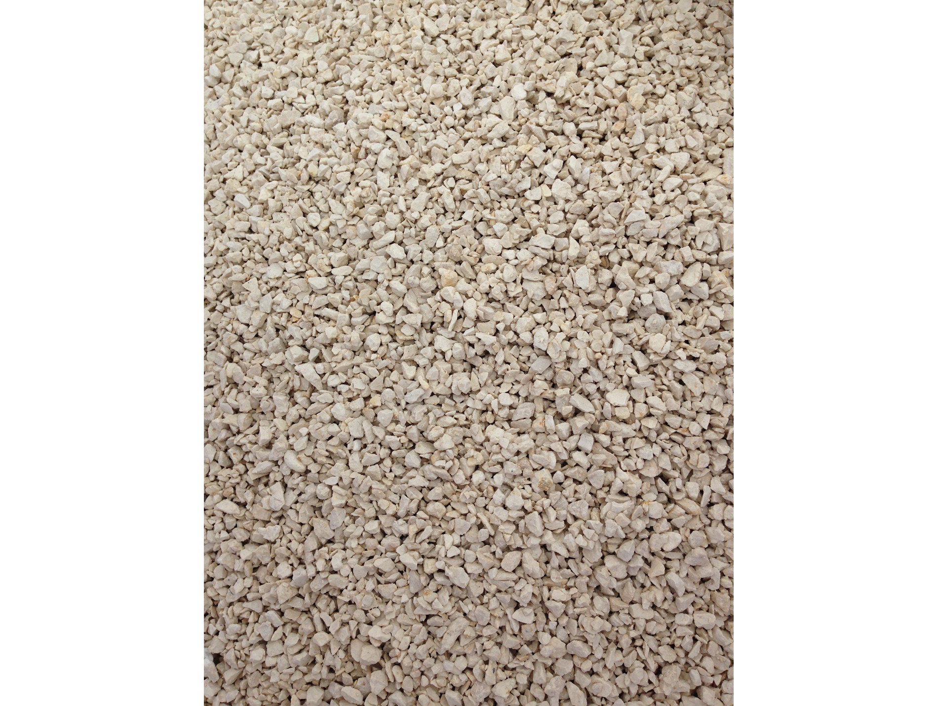 Amenagement Exterieur Galet Blanc gravillon calcaire blanc concassé 6/10 25kg - gravier, galet