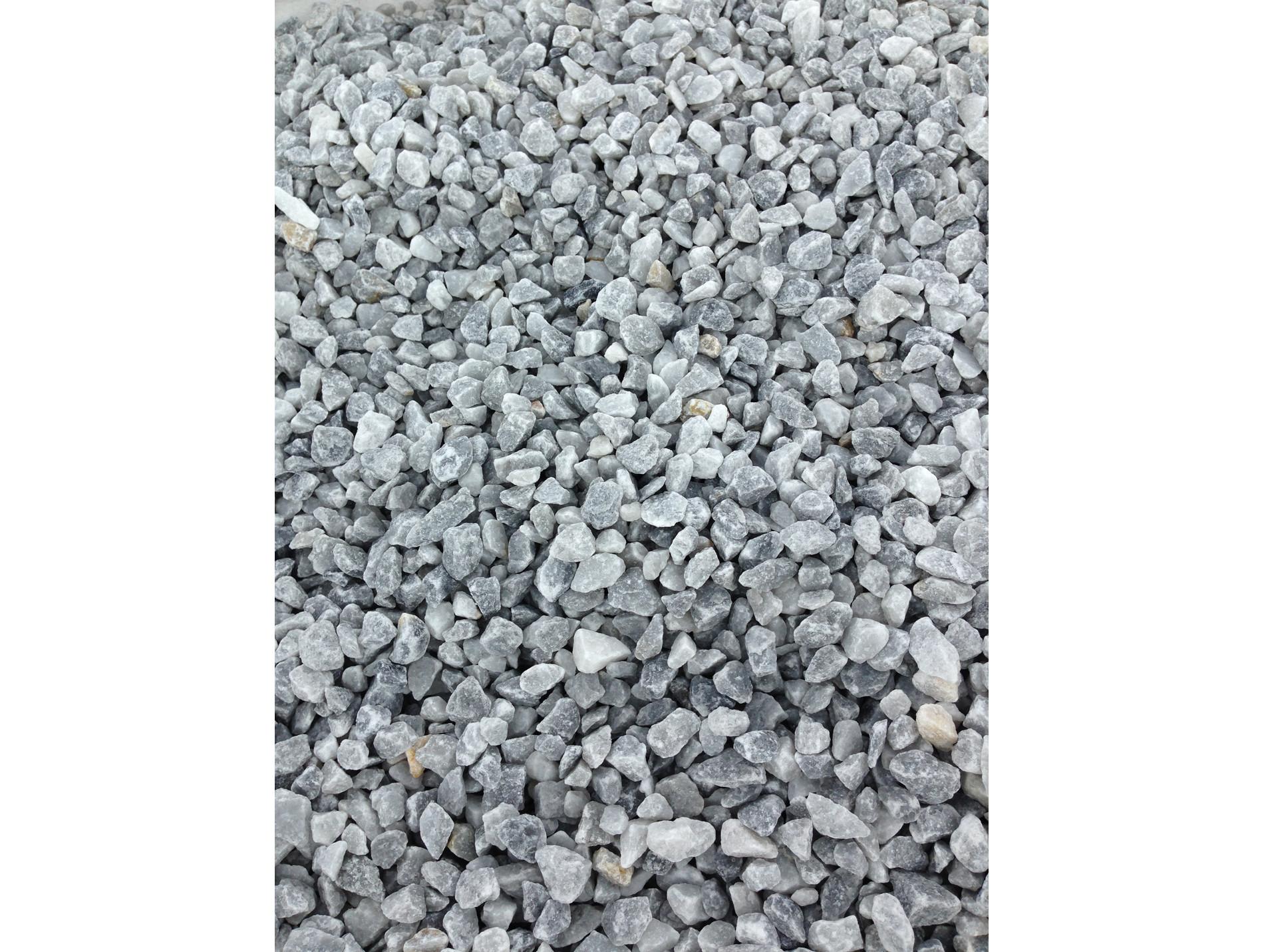 Amenagement Exterieur Galet Blanc gravillon marbre blanc bleuté 8/16 375kg - gravier, galet