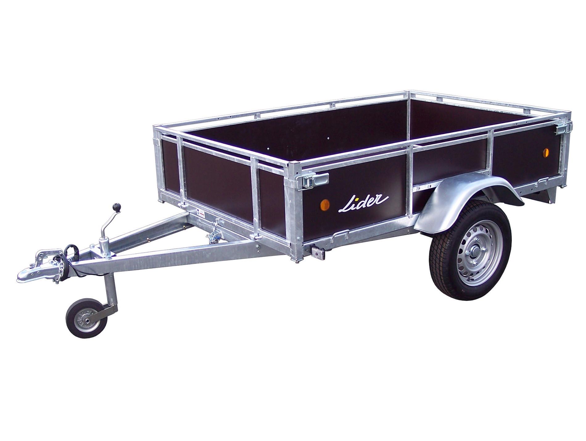 Remorque basculante cotés bois 750kg LIDER