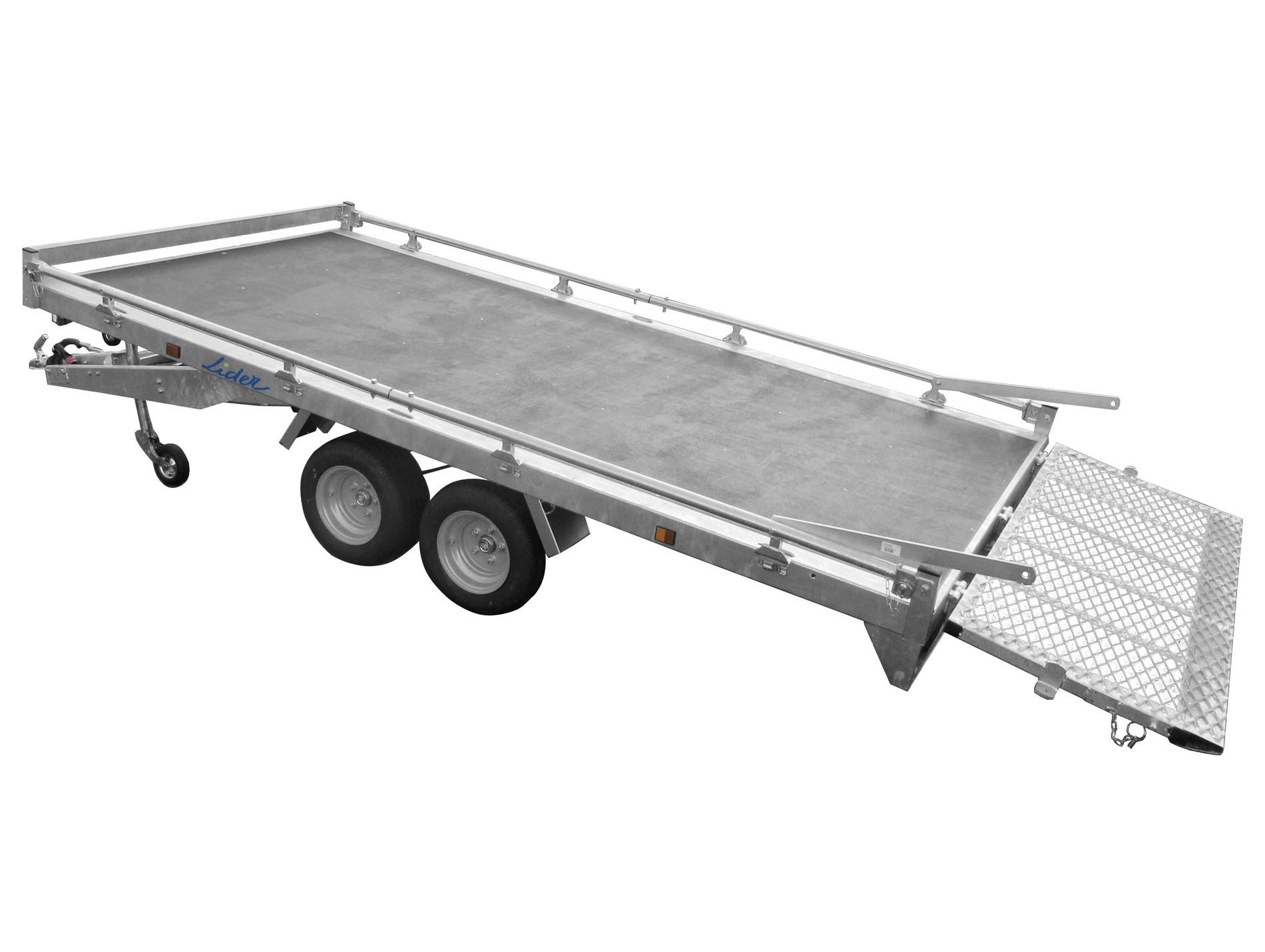 Remorque plateau 3,50m 2 essieux 2000kg LIDER