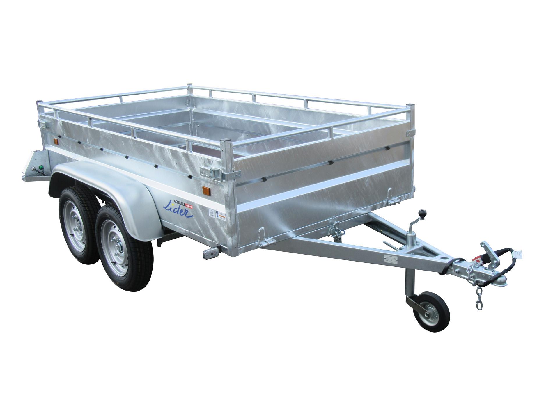 Remorque Robust 2 essieux 750kg LIDER