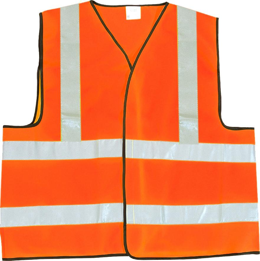 Gilet de sécurité orange fluo