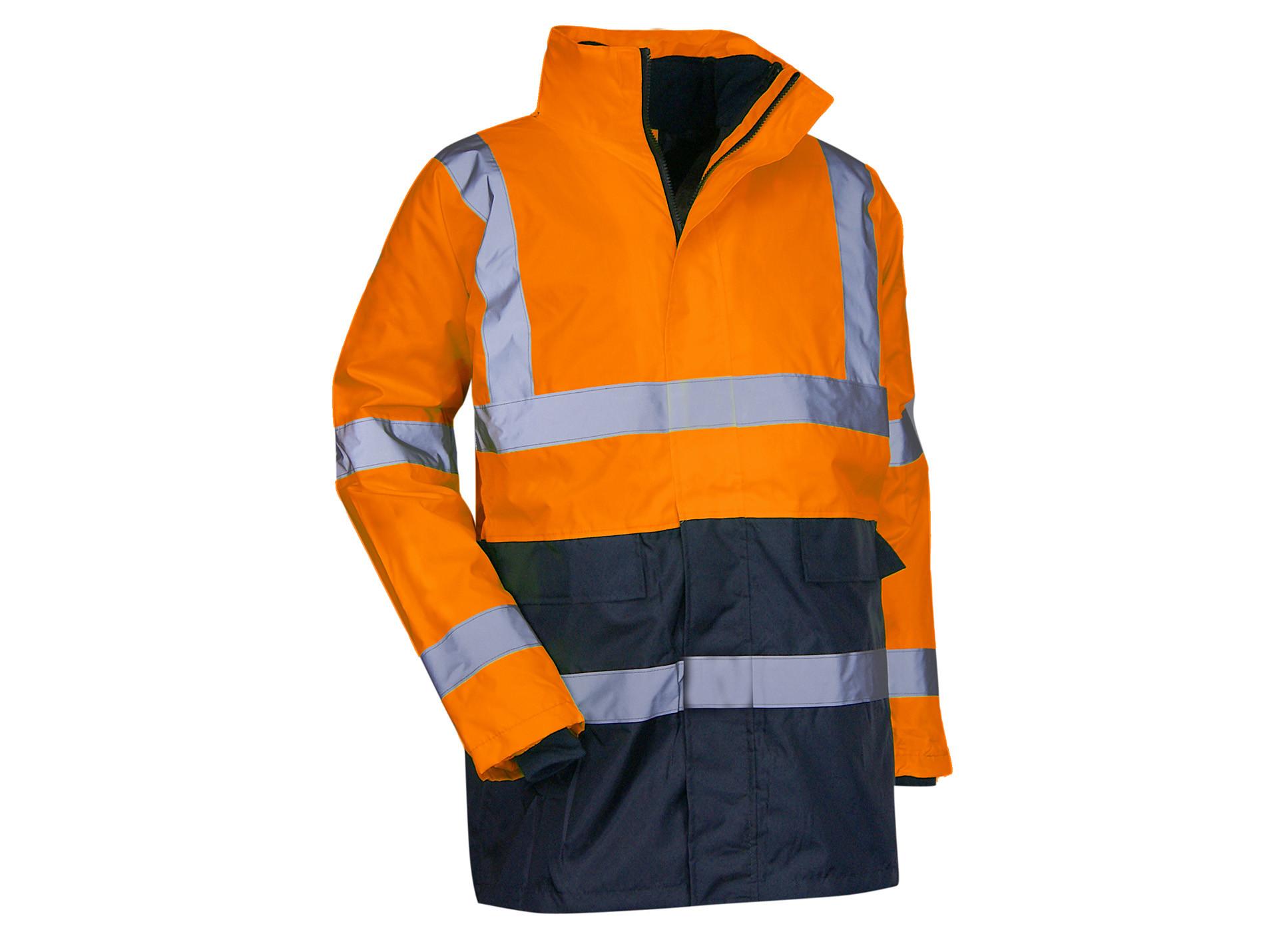 Parka haute visibilité 4en1 Classe 2 orange fluo