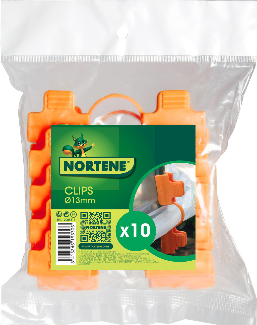 Clips pour Tomato Tuteur Ø13mm x 10