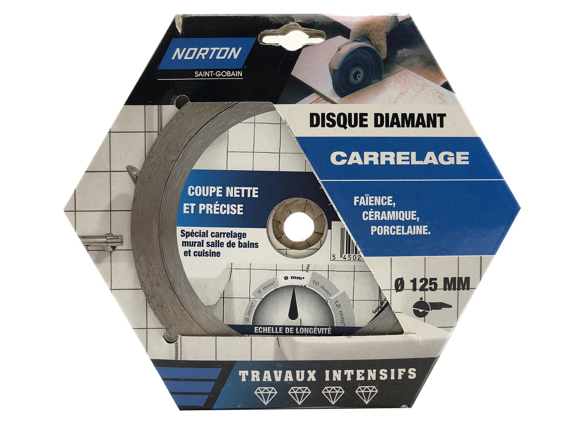 Disque Diamant Carrelage O125 Norton Disque De Meuleuse Consommable Electroportatif Et Accessoires Bricolage Materiaux