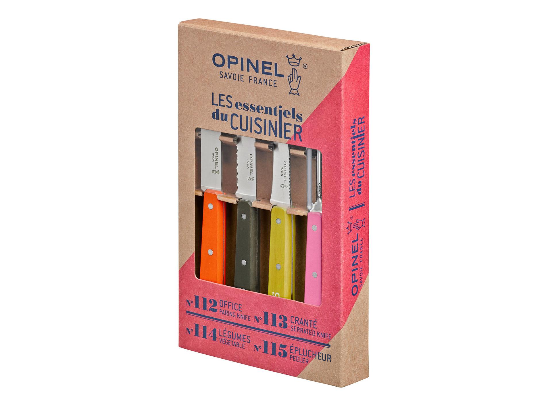 Coffret 4 couteaux de cuisine les essentiels fifties opinel - Coffret couteaux de cuisine ...