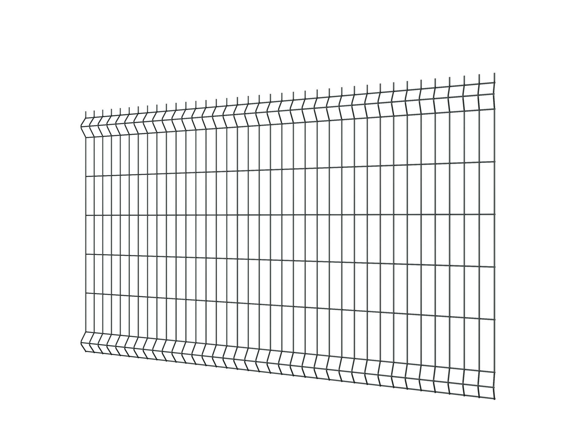 Panneau de clôture rigide EcoPlus gris 100x200