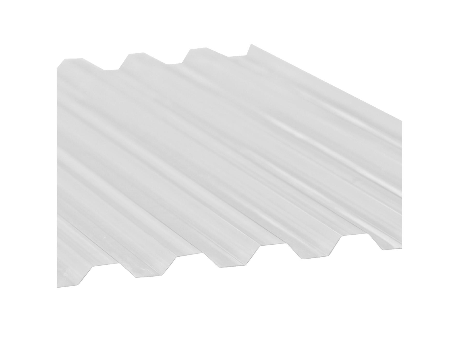 Plaque PVC Greca transparente 1090x300cm 8mm - Couverture toiture - Charpente et couverture ...