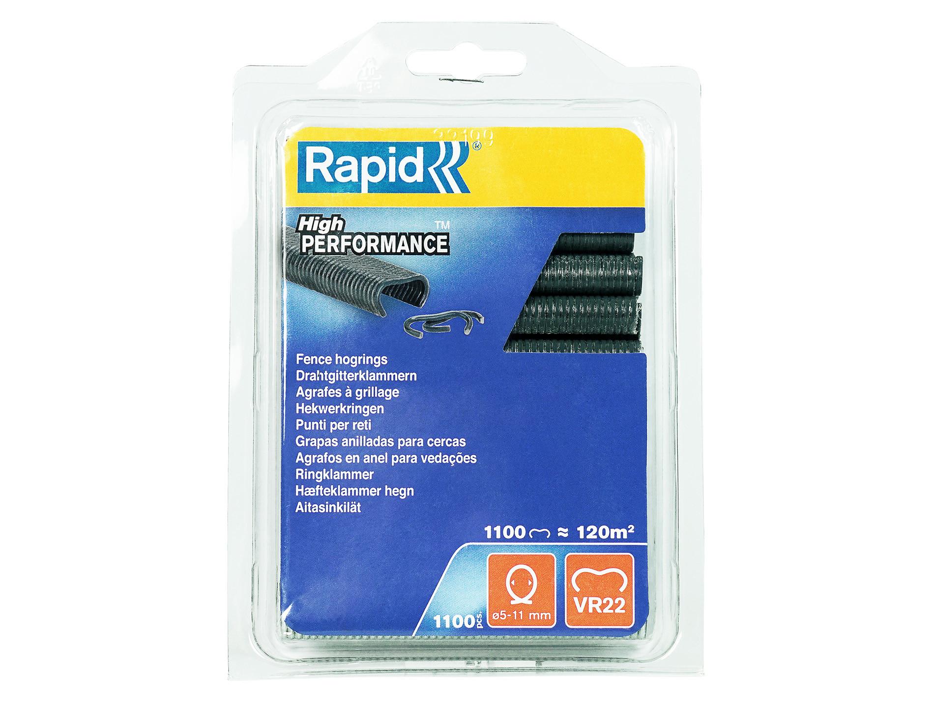 5 11 mm 1100 pièces galvanisées Haute qualité Rapid Agrafes de grillage VR22