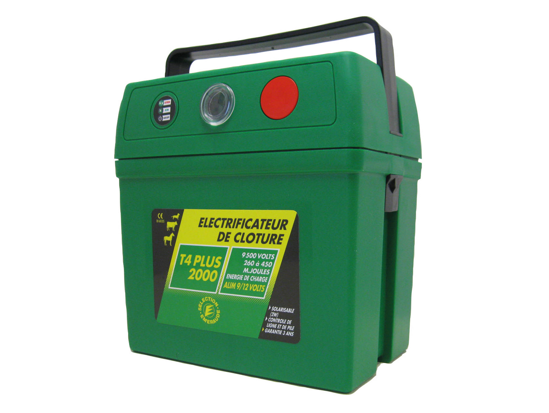 Electrificateur à pile T4 Plus 2000 9V 150/300mJ