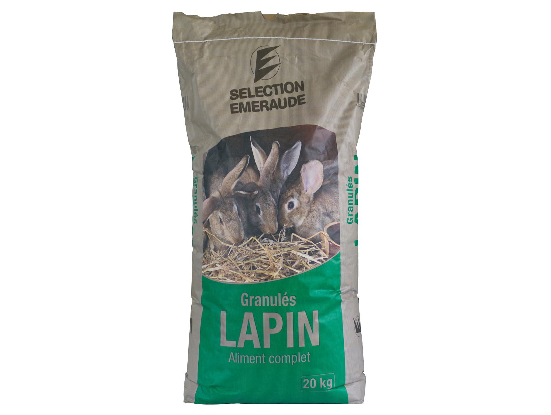 Granules Lapin Sélection Emeraude 20kg