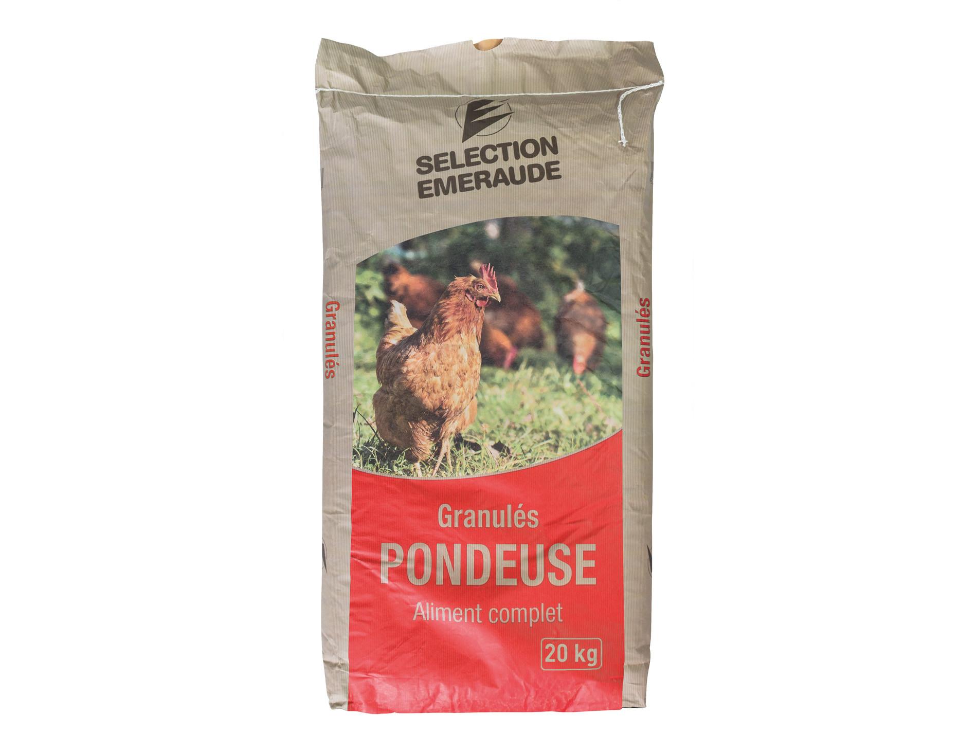 Granulés poule pondeuse Sélection Emeraude 20kg
