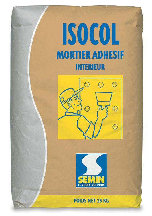 Mortier adhésif ISOCOL 25kg