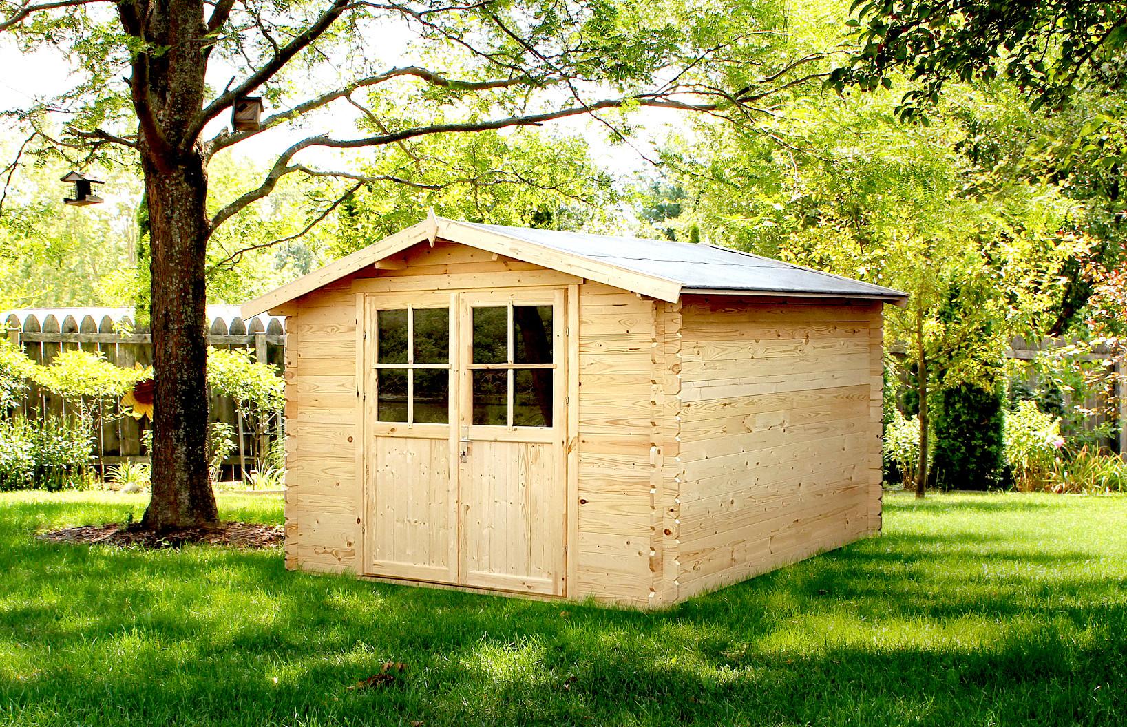 Abri de jardin bois 8,88m²