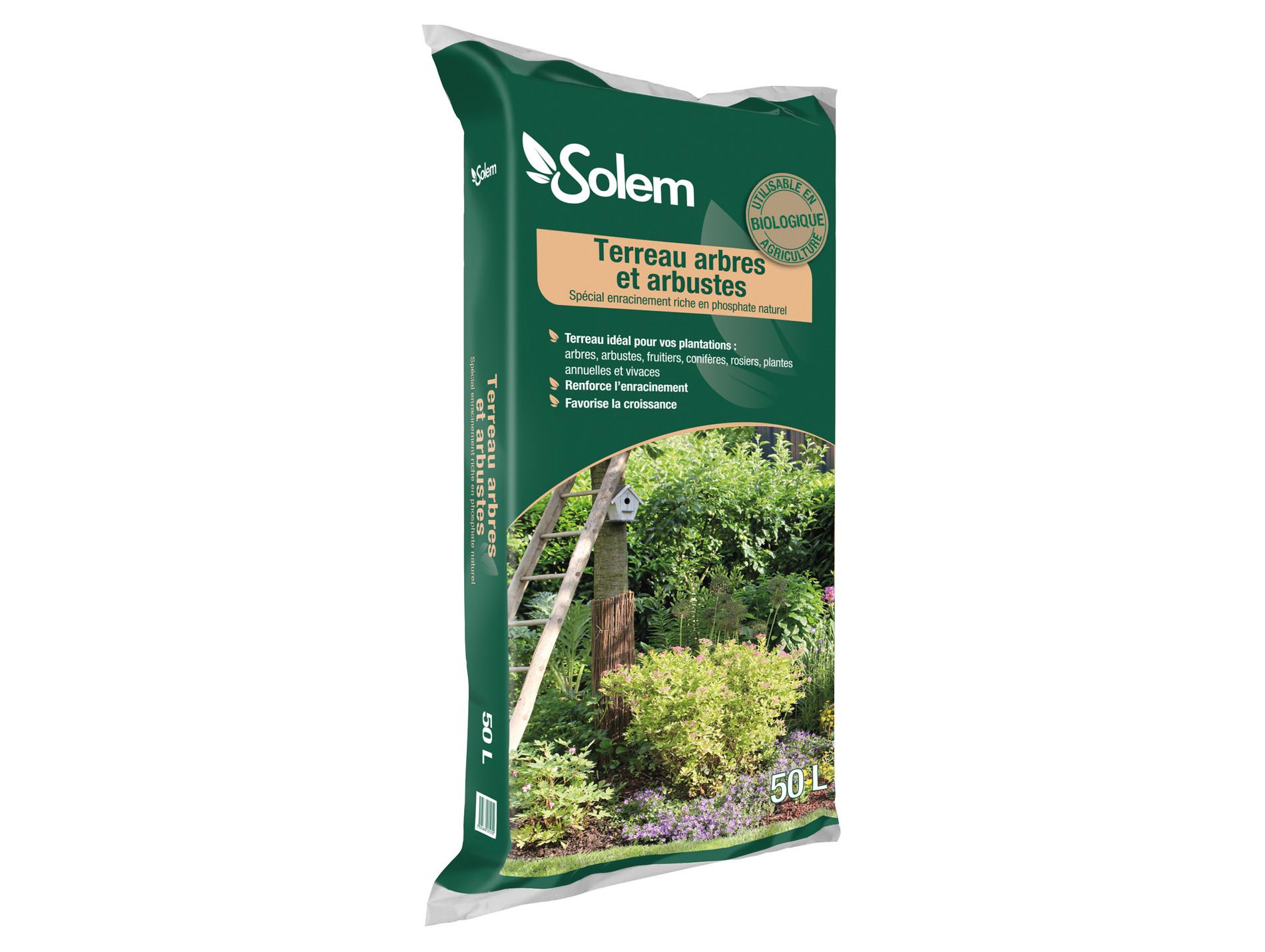 Terreau pour arbres et arbustes BIO 50L SOLEM