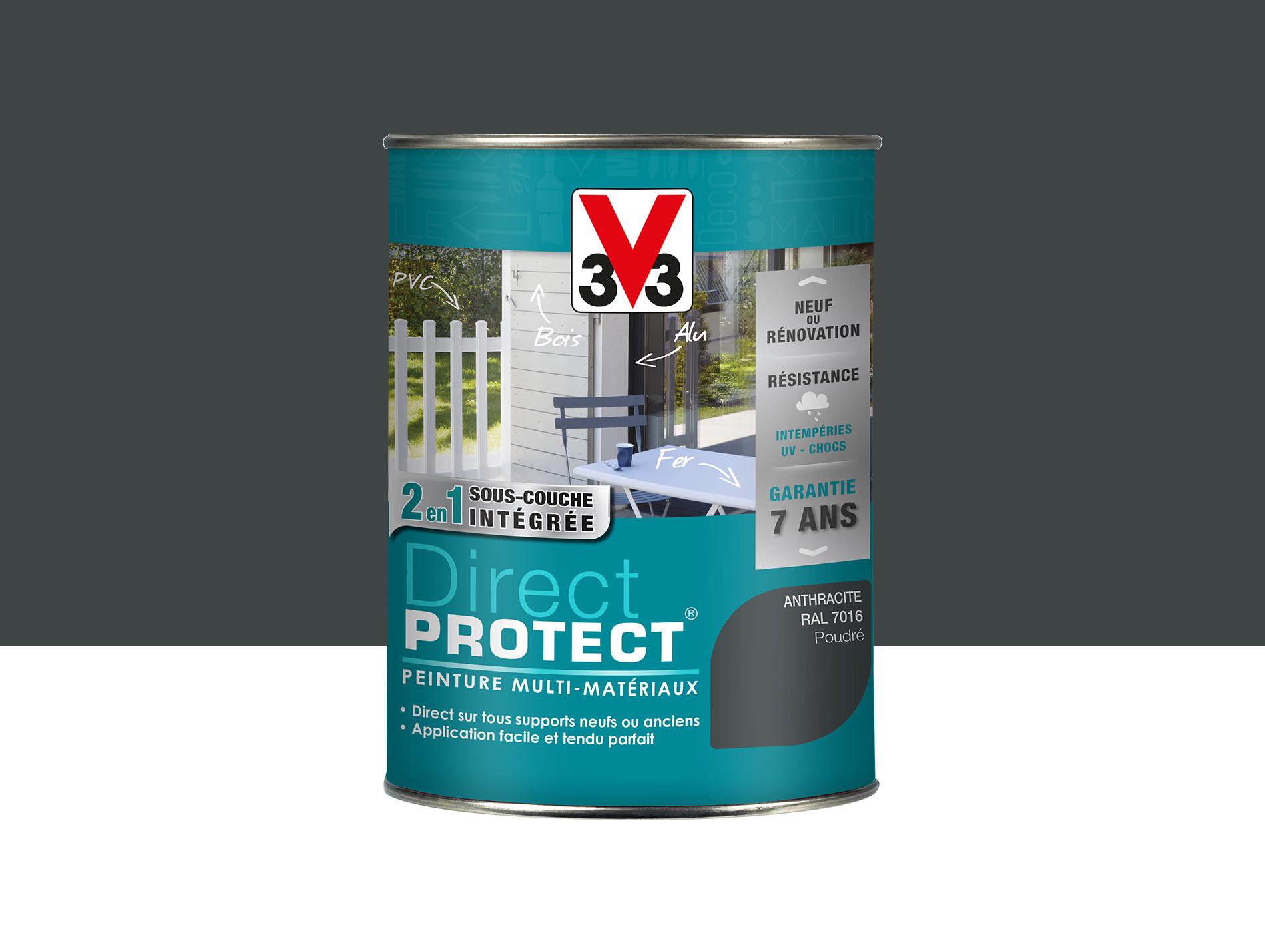 Peinture Direct Protect V33 Poudré Anthracite 15l