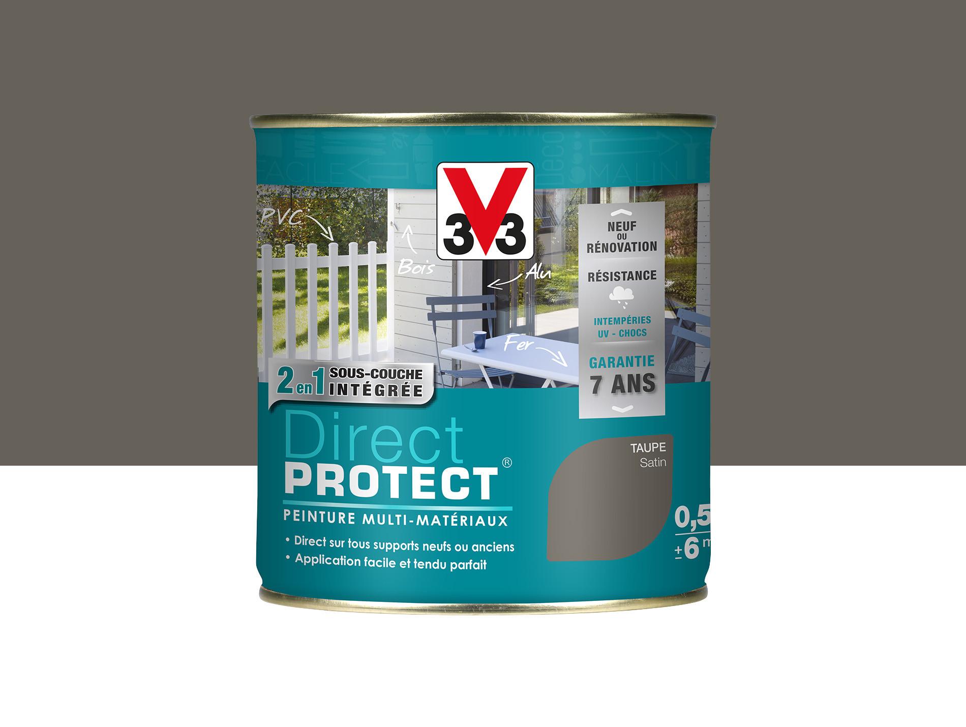 Peinture Direct Protect V33 Satiné Taupe 500ml