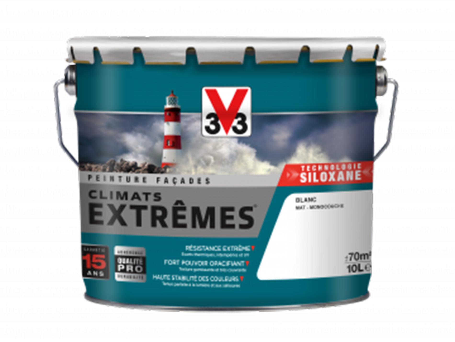 Peinture façades Climats Extrêmes® V33 Blanc Pur 10L