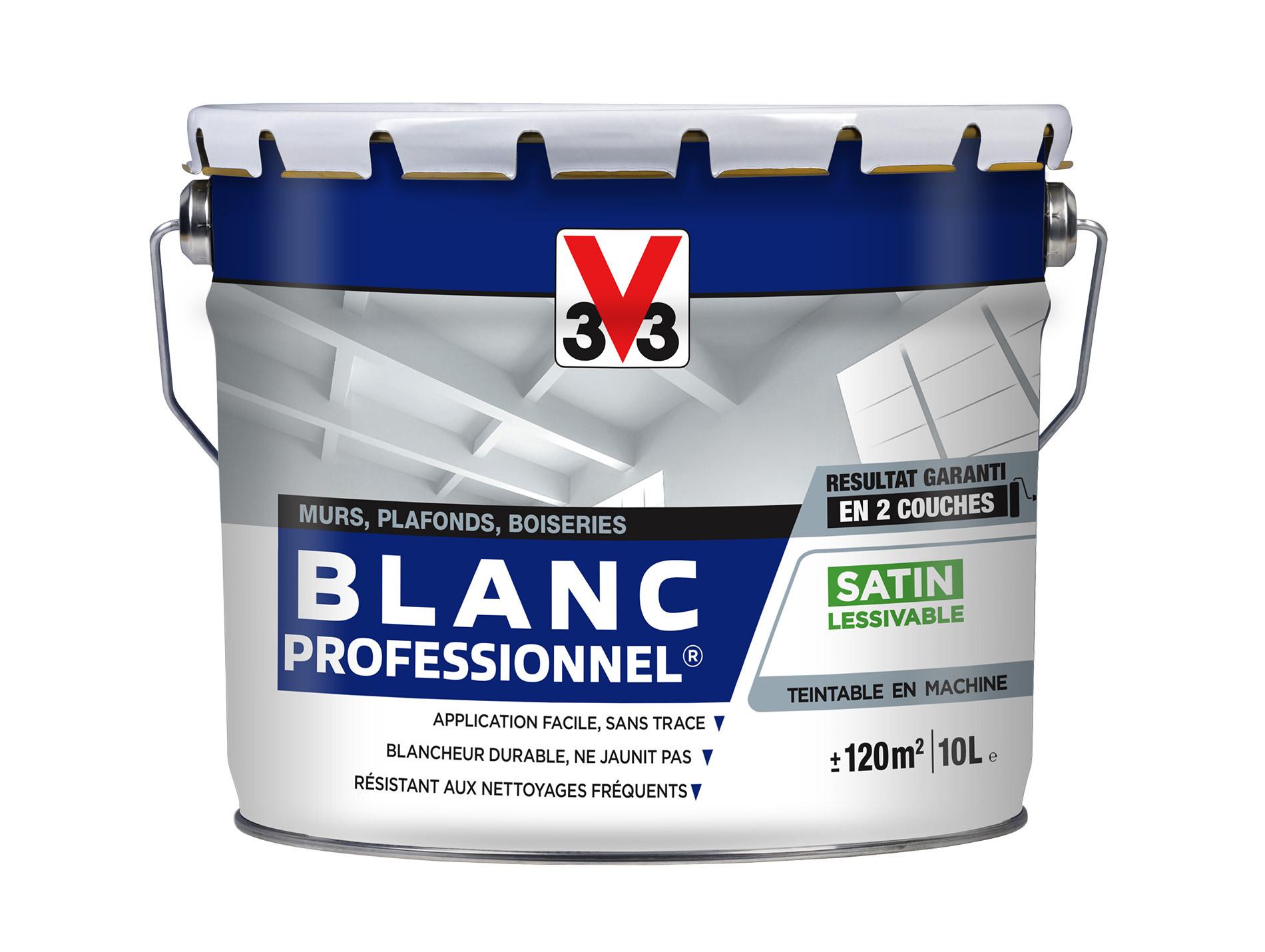 Peinture Intérieure Blanche V33 Acryl Pro Satin 10l