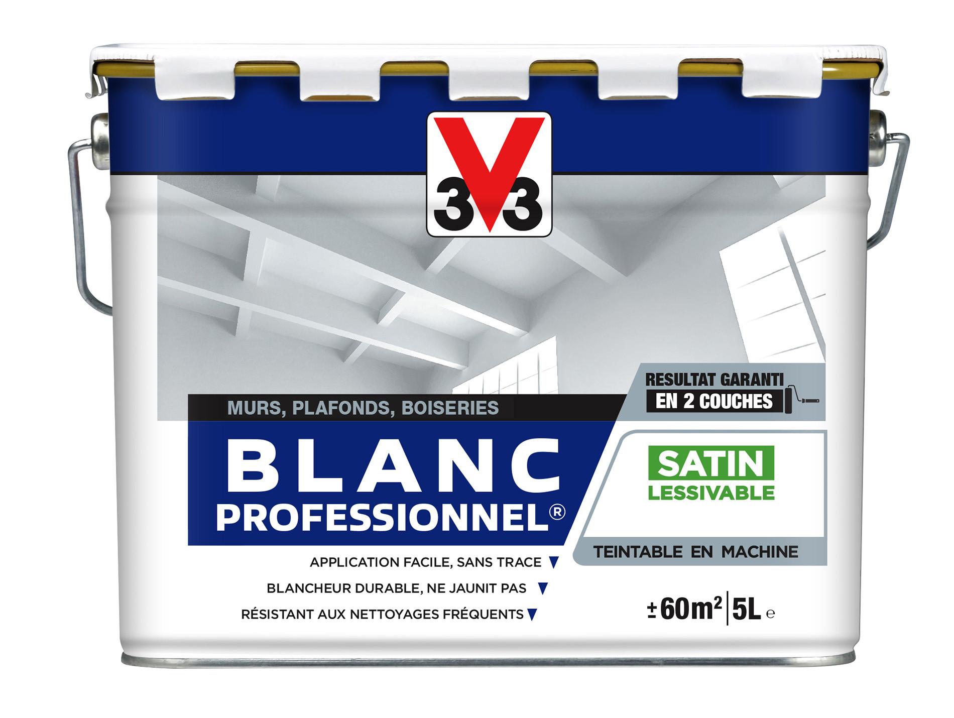 Peinture Intérieure Blanche V33 Acryl Pro Satin 5l