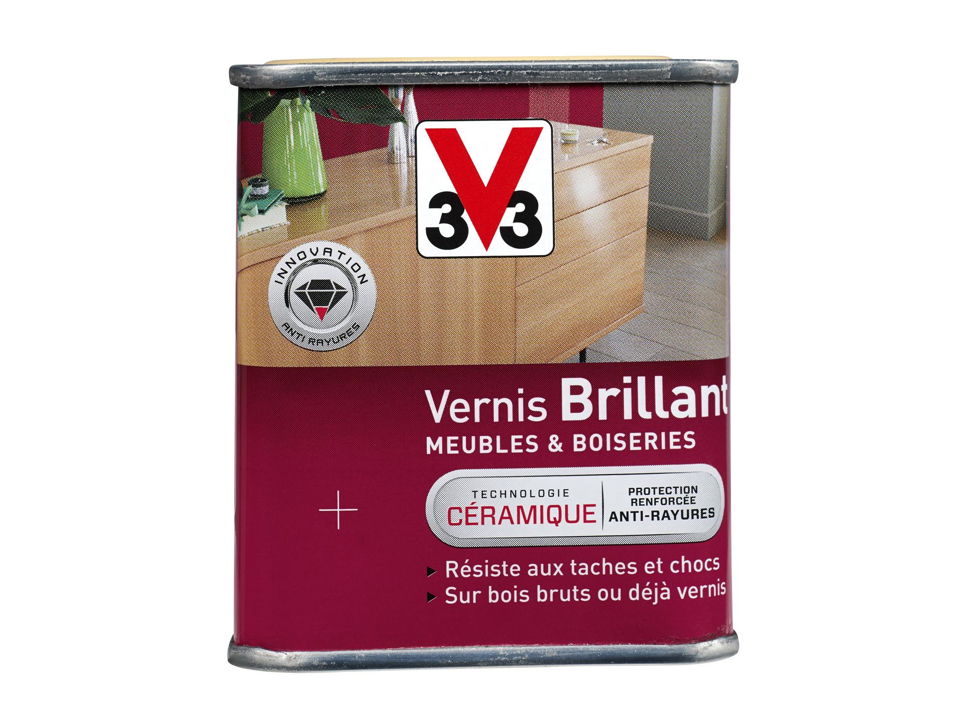 Vernis Ou Vitrificateur Sur Un Meuble Peint vernis satin ciré flix&flex v33 250ml incolore