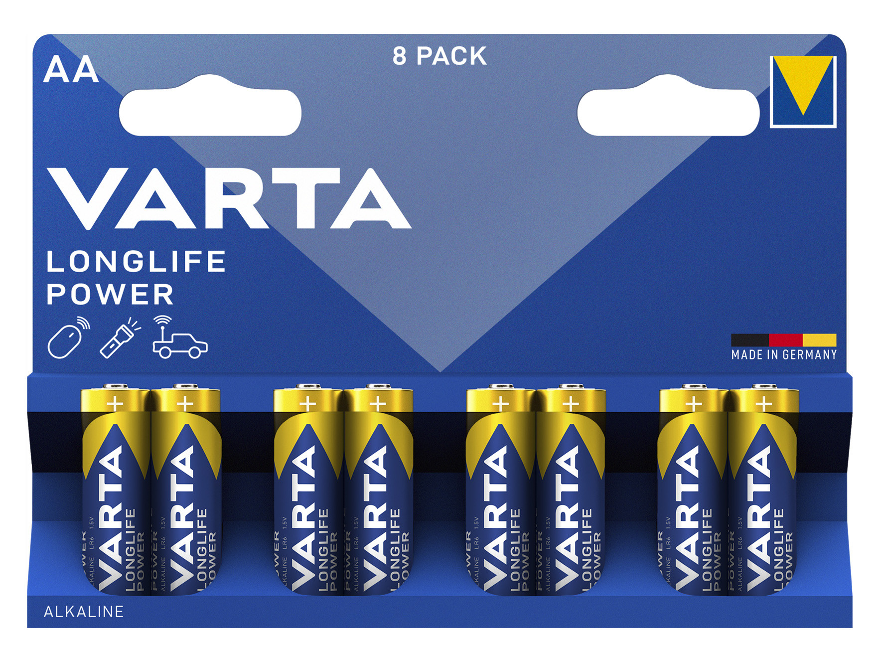 8 Piles alcaline High Energy LR06 VARTA