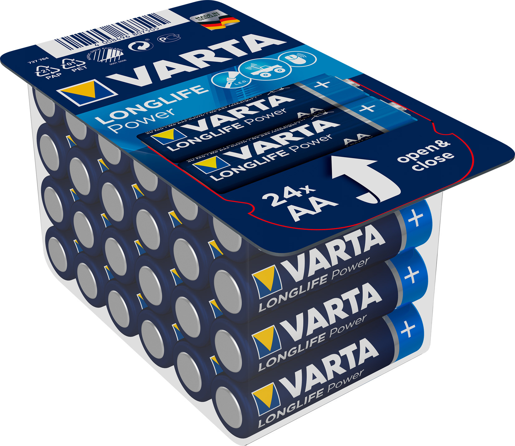 Piles alcalines VARTA Longlife Power LRO6 x 24