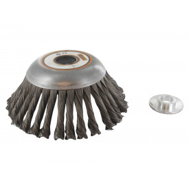 Tête brosse métallique Ø150mm / angle 45° pour débroussailleuse